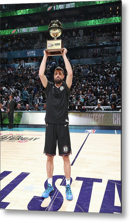 Nba Pro Basketball Metal Print featuring the photograph Joe Harris by Nathaniel S. Butler