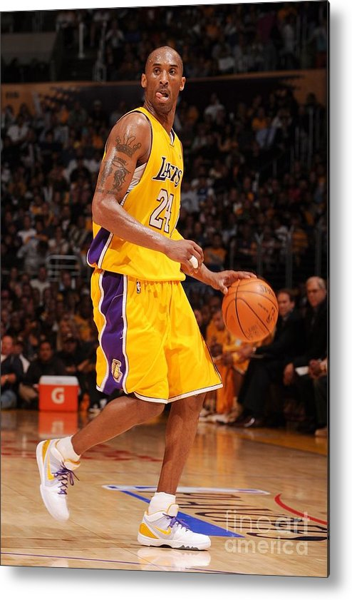 Playoffs Metal Print featuring the photograph Kobe Bryant by Noah Graham