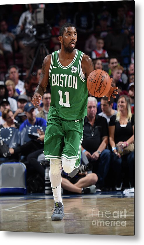 Nba Pro Basketball Metal Print featuring the photograph Kyrie Irving by Brian Babineau