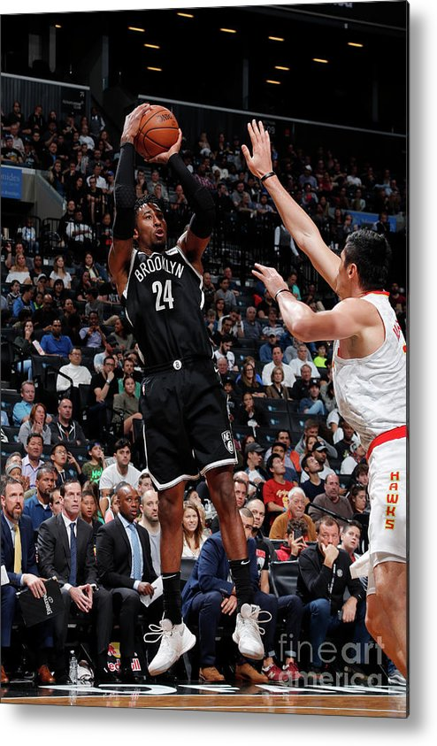Nba Pro Basketball Metal Print featuring the photograph Rondae Hollis-jefferson by Nathaniel S. Butler
