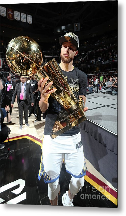 Playoffs Metal Print featuring the photograph Stephen Curry by Nathaniel S. Butler