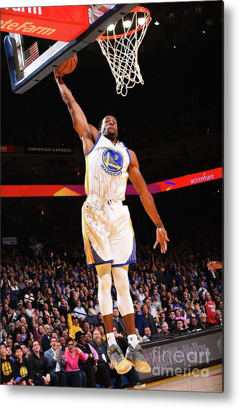 Nba Pro Basketball Metal Print featuring the photograph Andre Iguodala by Noah Graham