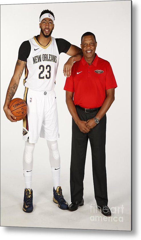 Media Day Metal Print featuring the photograph Anthony Davis by Jonathan Bachman