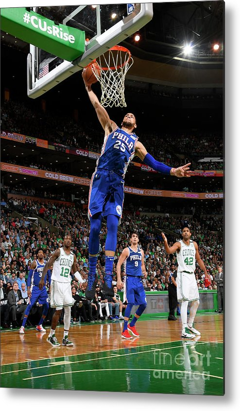 Playoffs Metal Print featuring the photograph Ben Simmons by Brian Babineau