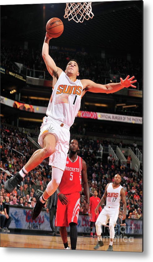 Nba Pro Basketball Metal Print featuring the photograph Devin Booker by Barry Gossage