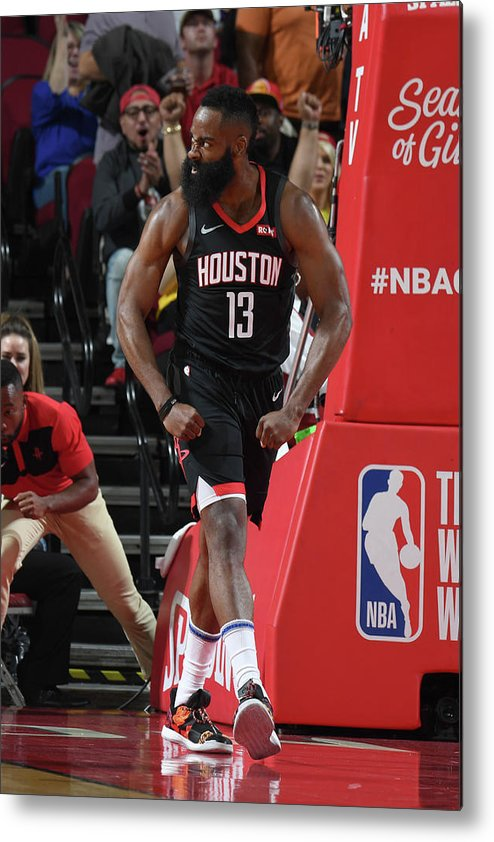 Nba Pro Basketball Metal Print featuring the photograph James Harden by Andrew D. Bernstein