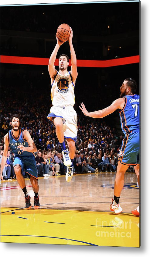 Nba Pro Basketball Metal Print featuring the photograph Klay Thompson by Andrew D. Bernstein