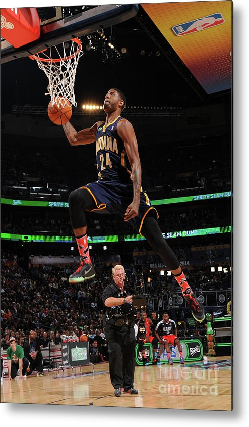 Smoothie King Center Metal Print featuring the photograph Paul George by Andrew D. Bernstein