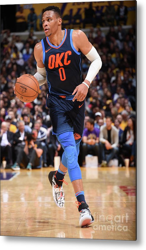 Nba Pro Basketball Metal Print featuring the photograph Russell Westbrook by Andrew D. Bernstein