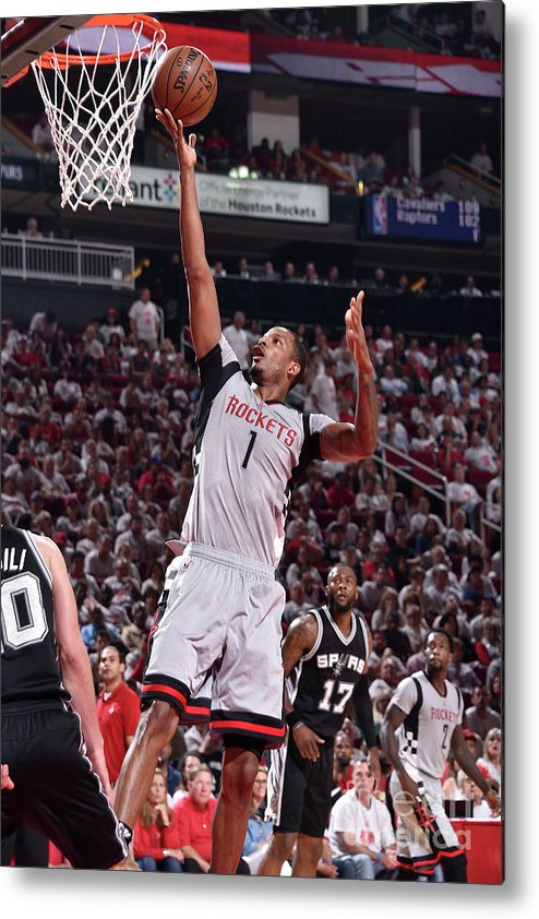 Playoffs Metal Print featuring the photograph Trevor Ariza by Bill Baptist