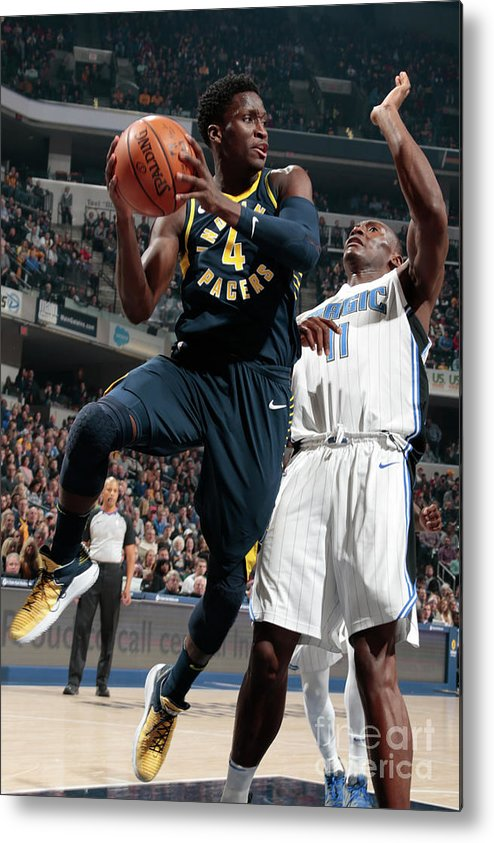 Nba Pro Basketball Metal Print featuring the photograph Victor Oladipo by Ron Hoskins