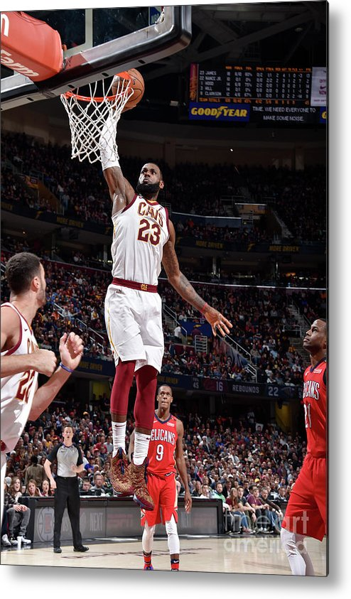 Sports Ball Metal Print featuring the photograph Lebron James by David Liam Kyle