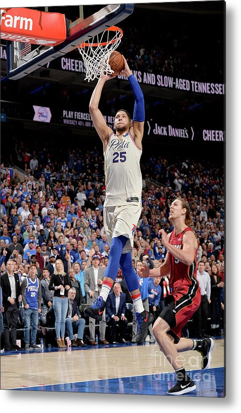 Playoffs Metal Print featuring the photograph Ben Simmons by David Dow