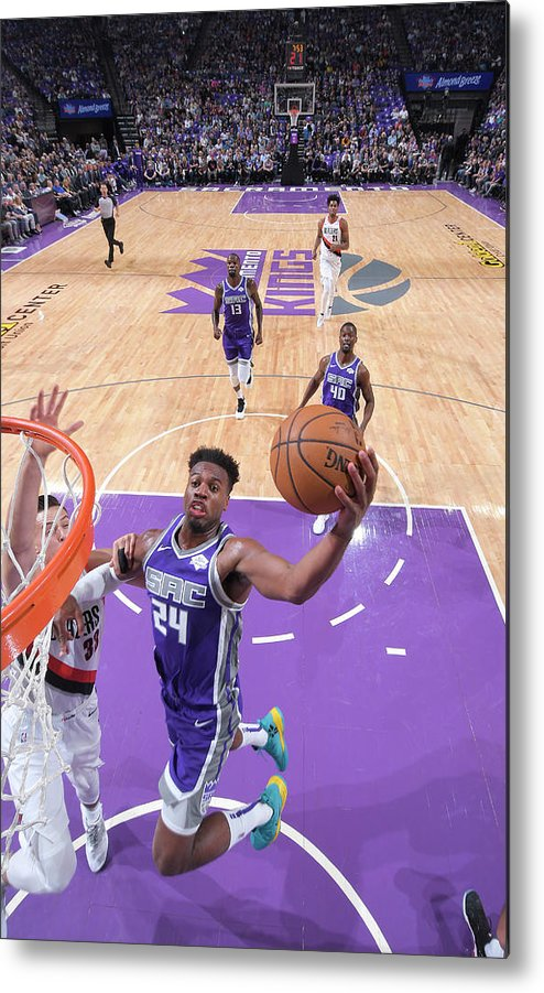 Nba Pro Basketball Metal Print featuring the photograph Buddy Hield by Rocky Widner