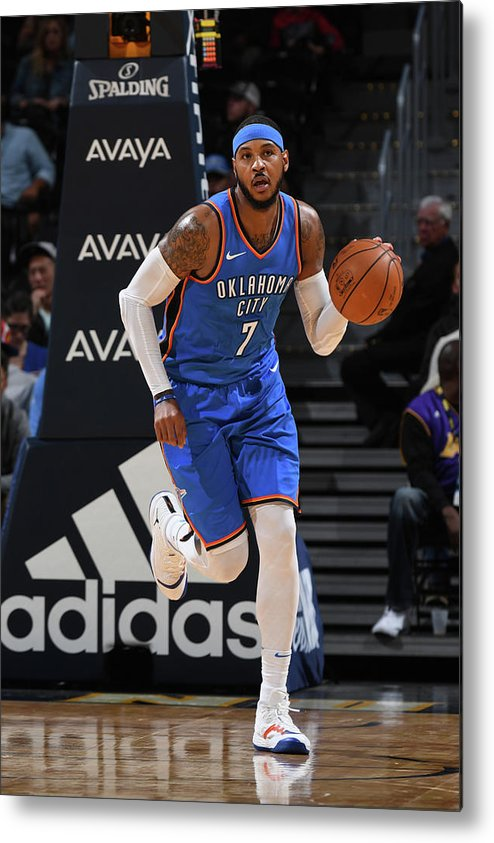 Nba Pro Basketball Metal Print featuring the photograph Carmelo Anthony by Garrett Ellwood