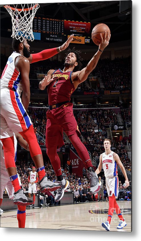 Nba Pro Basketball Metal Print featuring the photograph Derrick Rose by David Liam Kyle