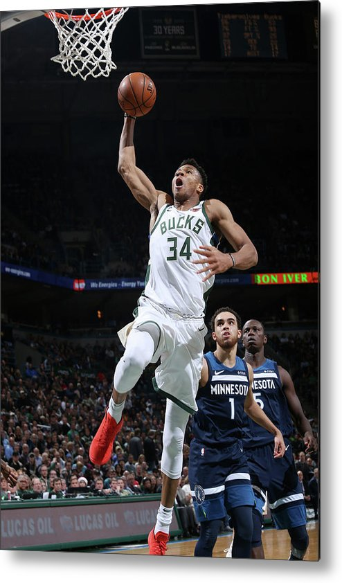 Nba Pro Basketball Metal Print featuring the photograph Giannis Antetokounmpo by Gary Dineen