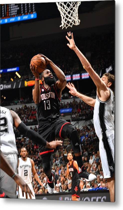 Playoffs Metal Print featuring the photograph James Harden by Jesse D. Garrabrant