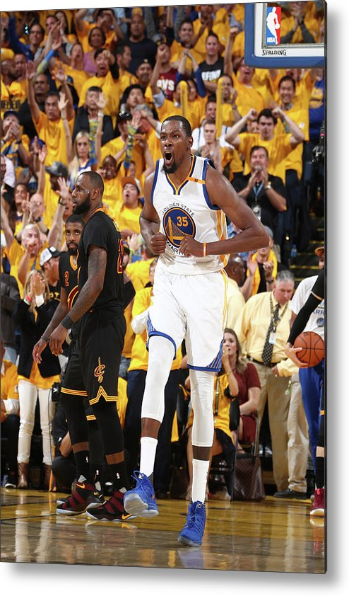 Playoffs Metal Print featuring the photograph Kevin Durant by Nathaniel S. Butler