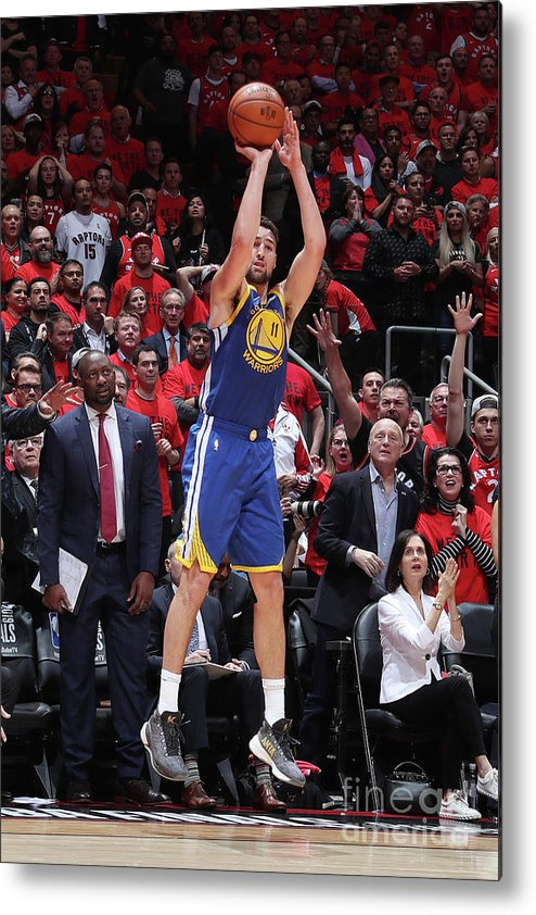 Playoffs Metal Print featuring the photograph Klay Thompson by Nathaniel S. Butler