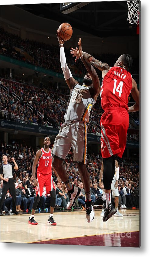 Nba Pro Basketball Metal Print featuring the photograph Lebron James by Joe Murphy