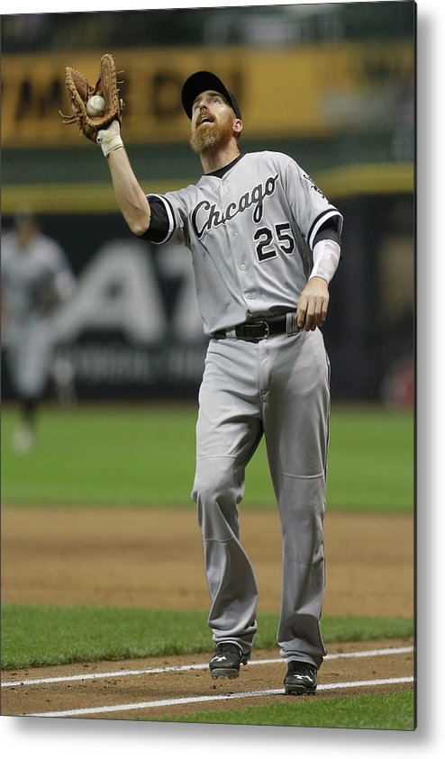 Adam Laroche Metal Print featuring the photograph Adam Laroche by Mike Mcginnis