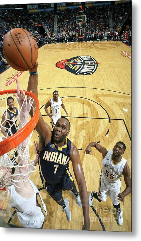 Smoothie King Center Metal Print featuring the photograph Al Jefferson by Layne Murdoch