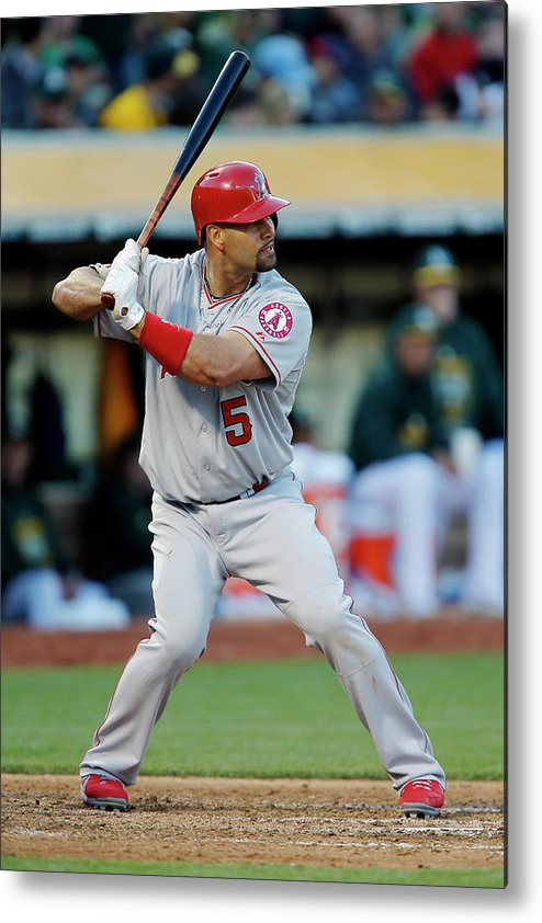 People Metal Print featuring the photograph Albert Pujols by Brian Bahr