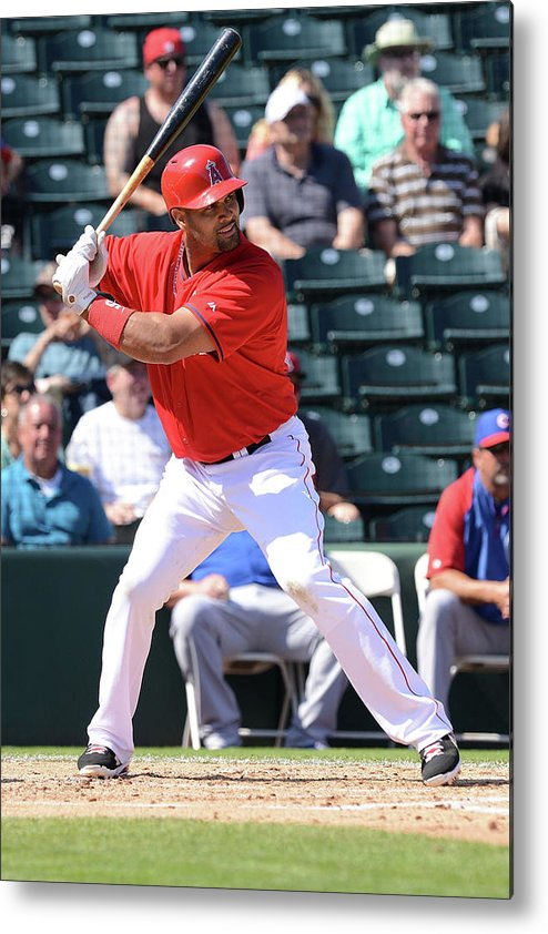 Tempe Diablo Stadium Metal Print featuring the photograph Albert Pujols by Norm Hall