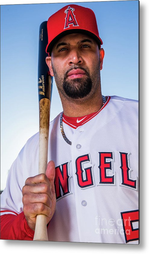 Media Day Metal Print featuring the photograph Albert Pujols by Rob Tringali