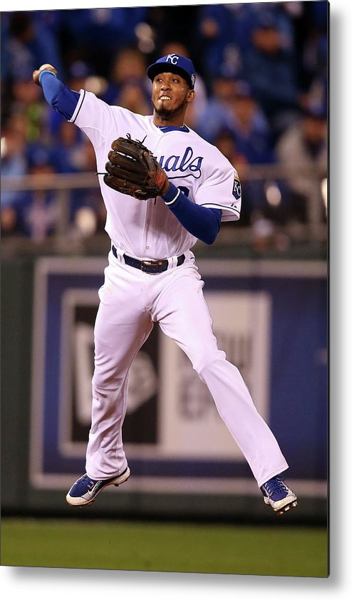 People Metal Print featuring the photograph Alcides Escobar by Doug Pensinger