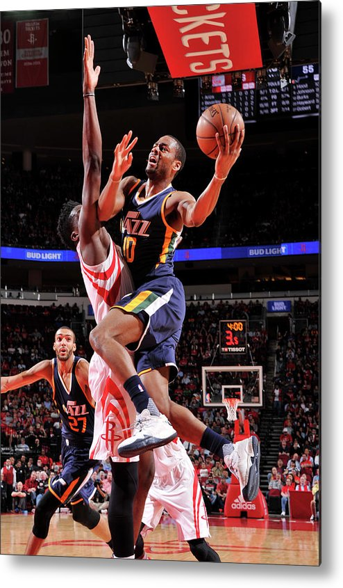 Nba Pro Basketball Metal Print featuring the photograph Alec Burks by Bill Baptist