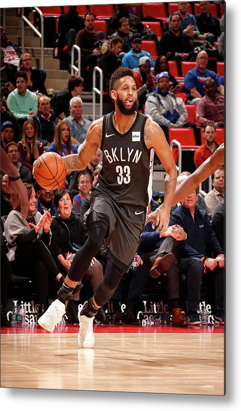 Nba Pro Basketball Metal Print featuring the photograph Allen Crabbe by Brian Sevald