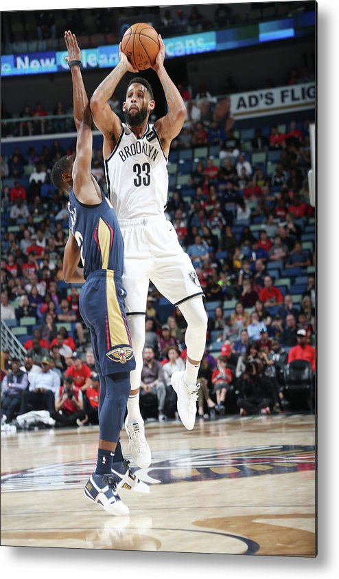 Smoothie King Center Metal Print featuring the photograph Allen Crabbe by Layne Murdoch