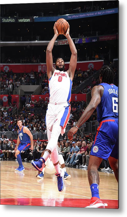 Nba Pro Basketball Metal Print featuring the photograph Andre Drummond by Andrew D. Bernstein