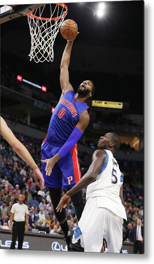 Nba Pro Basketball Metal Print featuring the photograph Andre Drummond by Jordan Johnson