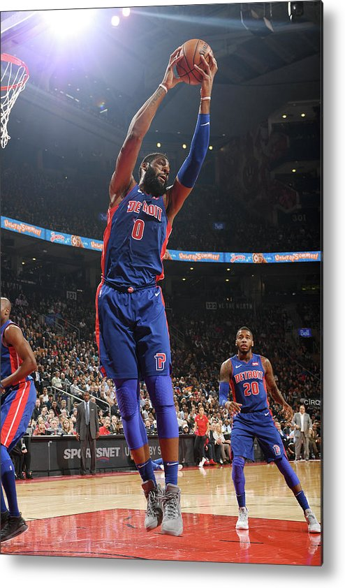 Nba Pro Basketball Metal Print featuring the photograph Andre Drummond by Ron Turenne