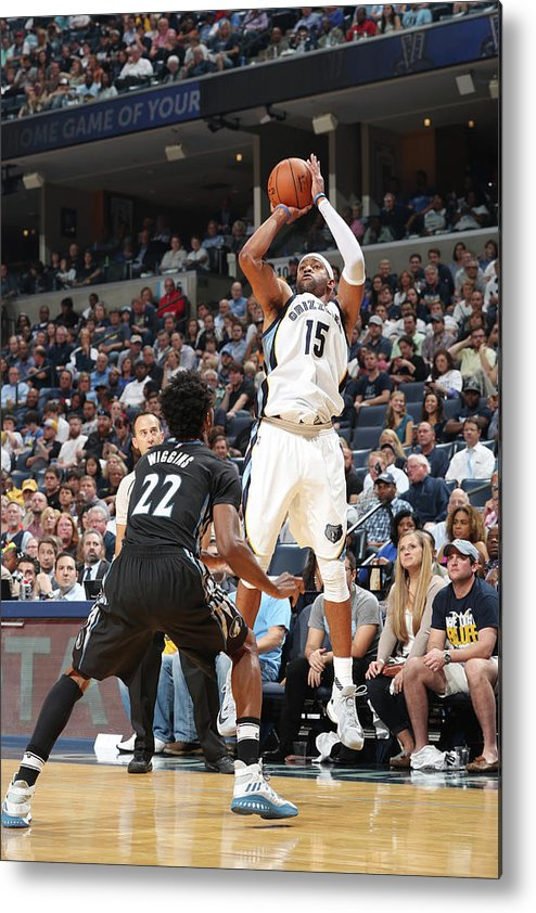 Nba Pro Basketball Metal Print featuring the photograph Andrew Wiggins and Vince Carter by Joe Murphy