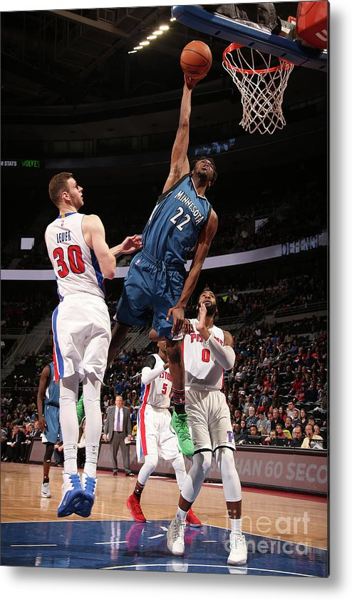 Nba Pro Basketball Metal Print featuring the photograph Andrew Wiggins by Brian Sevald