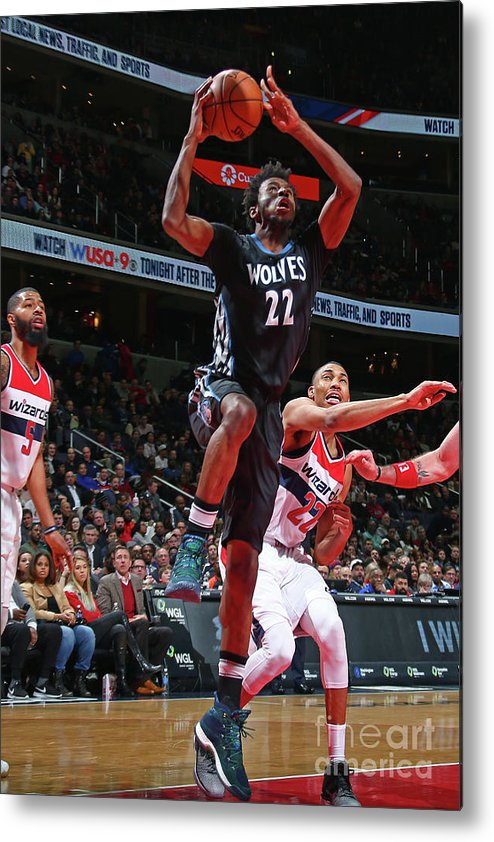 Nba Pro Basketball Metal Print featuring the photograph Andrew Wiggins by Ned Dishman