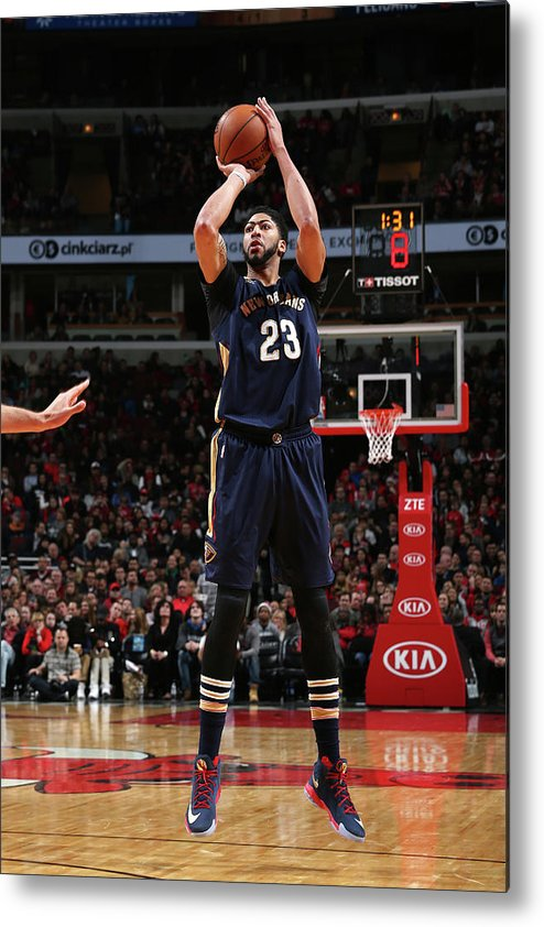 Nba Pro Basketball Metal Print featuring the photograph Anthony Davis by Gary Dineen