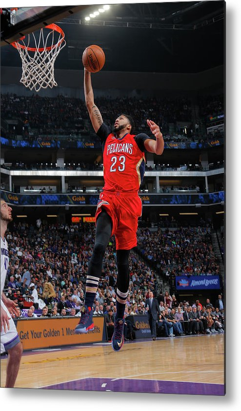 Nba Pro Basketball Metal Print featuring the photograph Anthony Davis by Rocky Widner