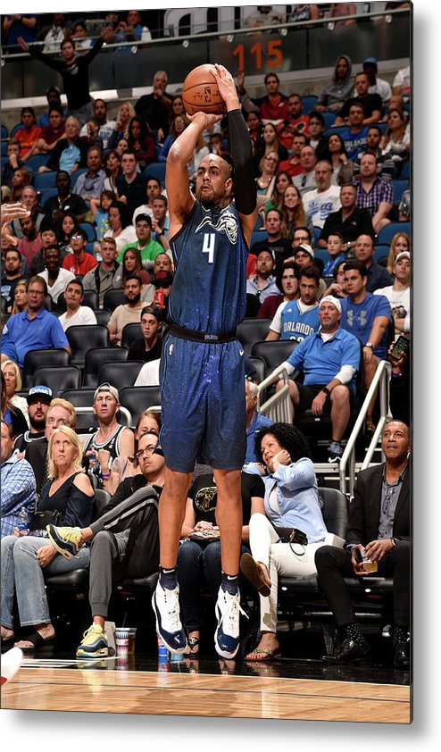 Nba Pro Basketball Metal Print featuring the photograph Arron Afflalo by Gary Bassing
