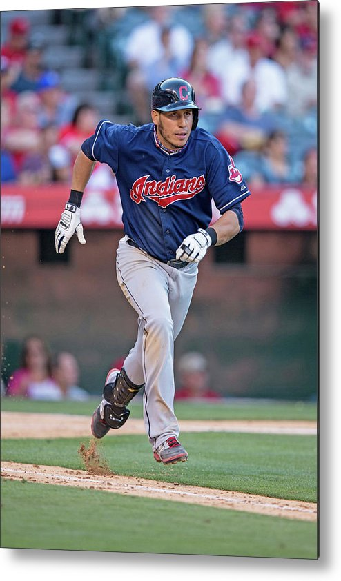 American League Baseball Metal Print featuring the photograph Asdrubal Cabrera by Paul Spinelli