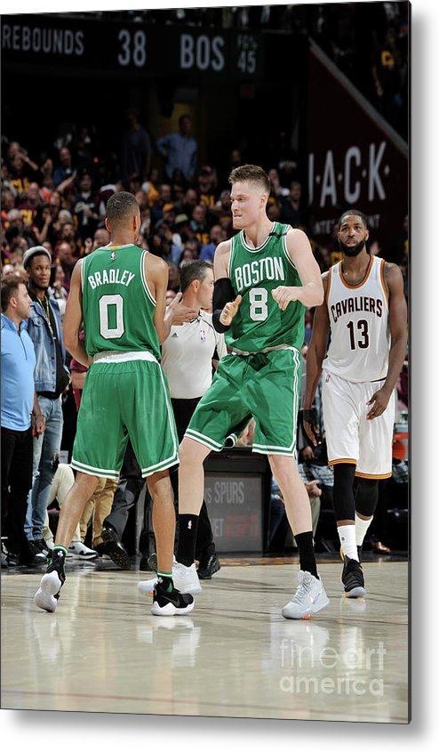 Playoffs Metal Print featuring the photograph Avery Bradley and Jonas Jerebko by David Liam Kyle