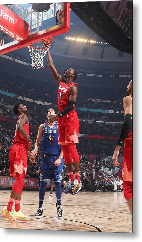 Nba Pro Basketball Metal Print featuring the photograph Bam Adebayo by Nathaniel S. Butler