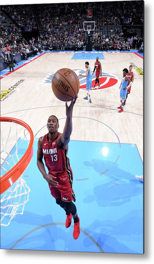 Nba Pro Basketball Metal Print featuring the photograph Bam Adebayo by Rocky Widner