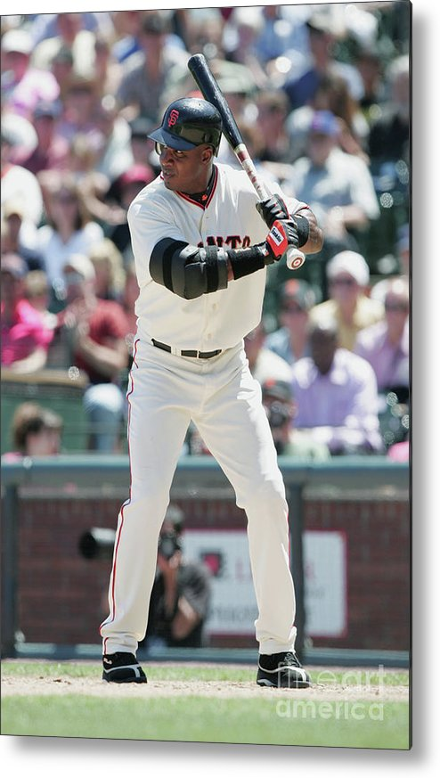 San Francisco Metal Print featuring the photograph Barry Bonds by Jed Jacobsohn