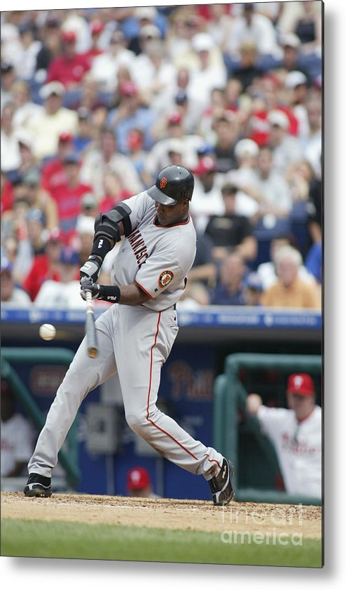 Motion Metal Print featuring the photograph Barry Bonds by Rob Leiter