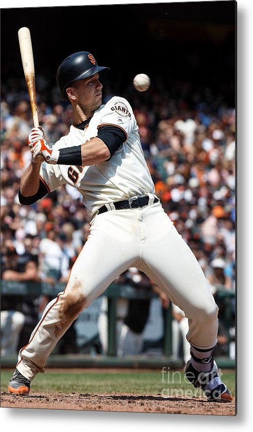 San Francisco Metal Print featuring the photograph Ben Lively and Buster Posey by Jason O. Watson